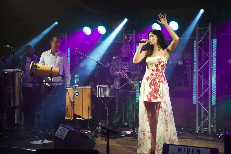 Brazilian singer Joyce Candido singing at MIDEM 2014