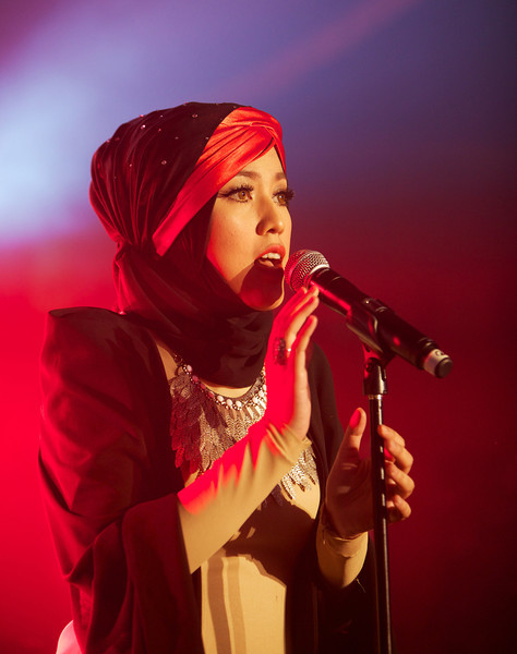Malaysian singer Shila Amzah perform at MIDEM 2014