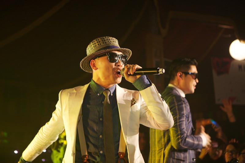 South Korean rap band Dynamic Duo performs at MIDEM 2014