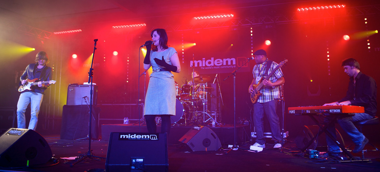 Lizzy Parks sings at MIDEM on 1/24/11