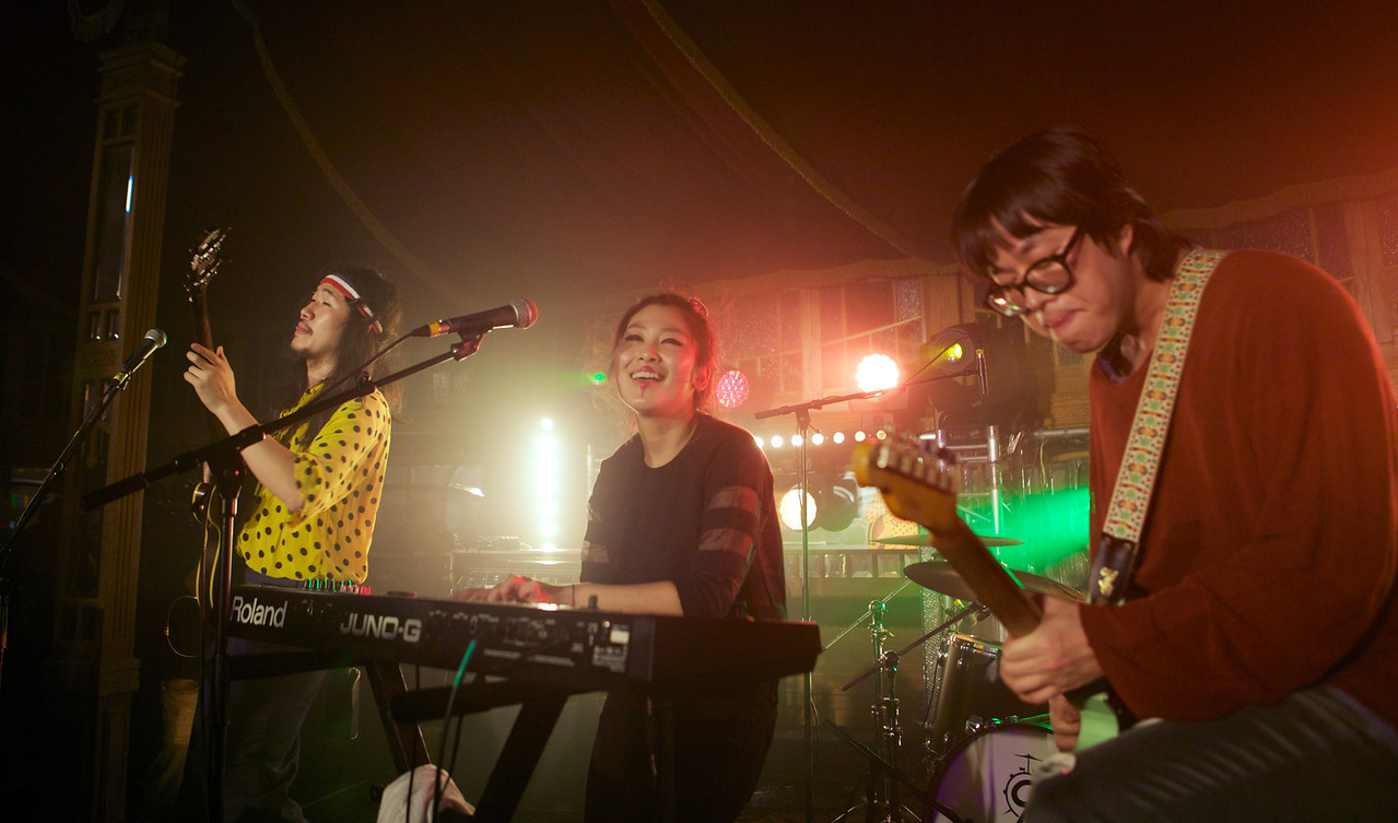 South Korean rock band Goonam performs at MIDEM 2014