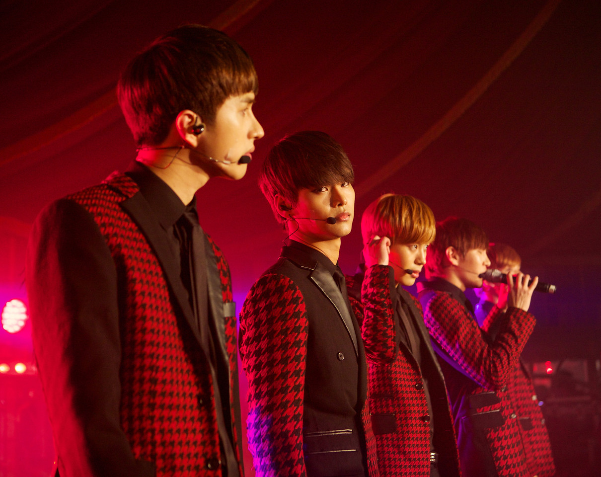 South Korean pop band Vixx performs at MIDEM 2014