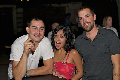 Vince Vassil of Northside, Diana Victoriano of Anderson and Alex Glueck of Bellview, KY at Neon's for MPMF.10