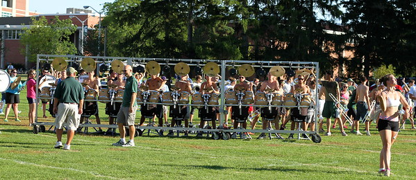 Spartan Marching Band Friday evening rehearsal.