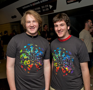 Patrick Katheder and Andrew Moore from Indiana University at US Bank Arena for MUSE