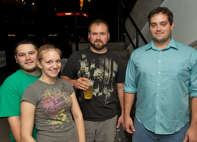 Michael and Emily Self with Josh Thompson and Tim Vance of Georgetown, KY at US Bank Arena for MUSE