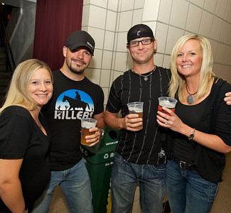 Melissa and Cory Kimball with Joe and Joanie Kiefer of the West Side at US Bank Arena for MUSE