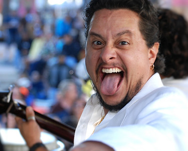 "Tito Puente, Jr. ""doing his best Gene Simmons imitation"""