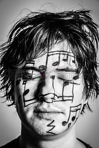 Studio Shoot with DC GuitARTIST John Lee<br /> Feb. 2012 - Face art by me, music taken from 1 bar of deconstructed original John Lee music