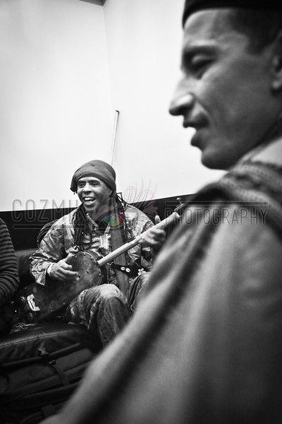 Hassan Hakmoun, backstage at Le Poisson Rouge NYC, Dec. 2012