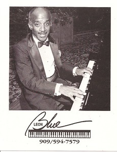 Leon Blue - promo photo - about 1988 at Fairmont Hotel in San Jose, CA