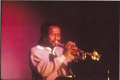 Oscar Brashear - about 1993 at the Jazz Cafe in Los Angeles, CA.