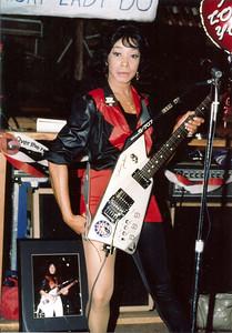 Lady Bo (Peggy Malone) in 1988 in San Jose, CA.