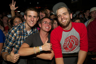 Keith Scanlon from Dayton, John Rider and Aaron Warner from Harrodsberg, KY at Bogart's Friday for Mac Miller