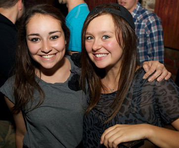 Michelle Maurer and Mary George from Dayton at Bogart's Friday for Mac Miller