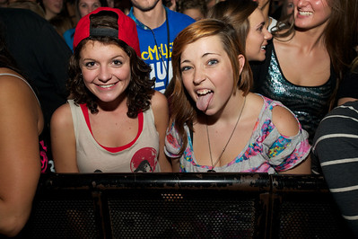 Kerstin Keys and Morgan Olliver from Taylorsville, KY at Bogart's Friday for Mac Miller