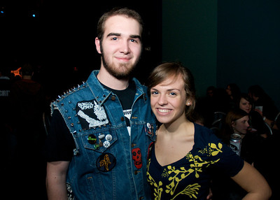 Chris Lefke of Kenwood and Virginia Dickens of Montgomery at the Madison Theater for Foxy Shazam's Christmas Odditorium