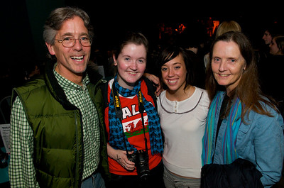 Criswell Davis, Teagan Walsh Davis, Mary Maier and Bridget Walsh at the Madison Theater for Foxy Shazam's Christmas Odditorium