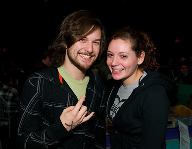 Brennan Sullivan and Megan Holt of Northern KY at the Madison Theater for Foxy Shazam's Christmas Odditorium