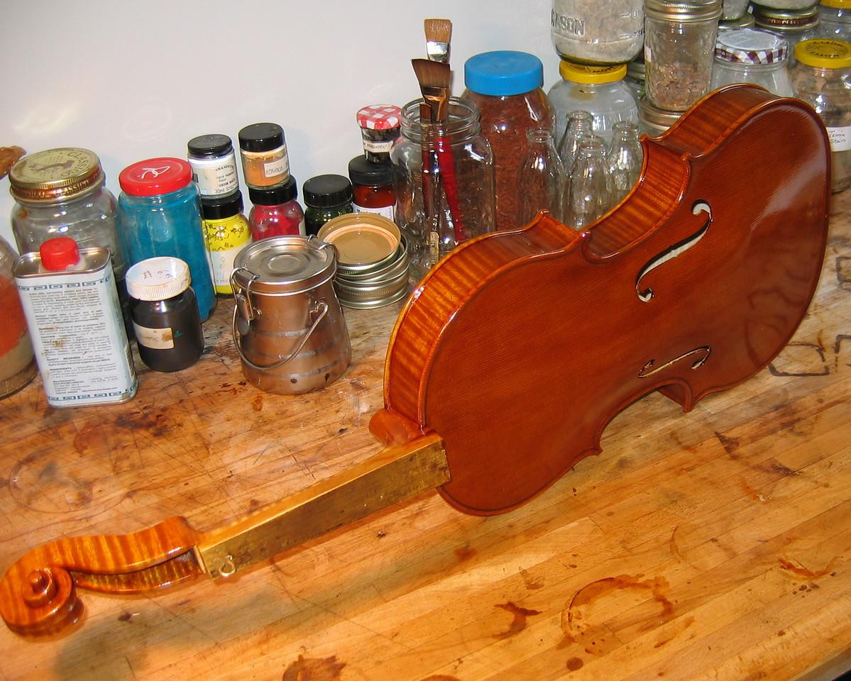 September 28 - varnish nearly finished.