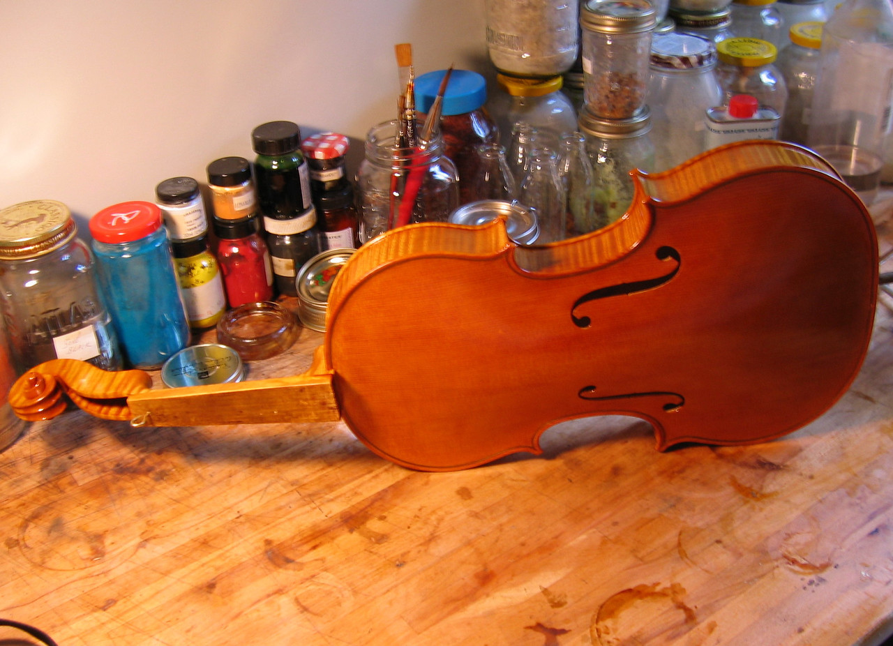 September 21 - the varnishing process has begun.
