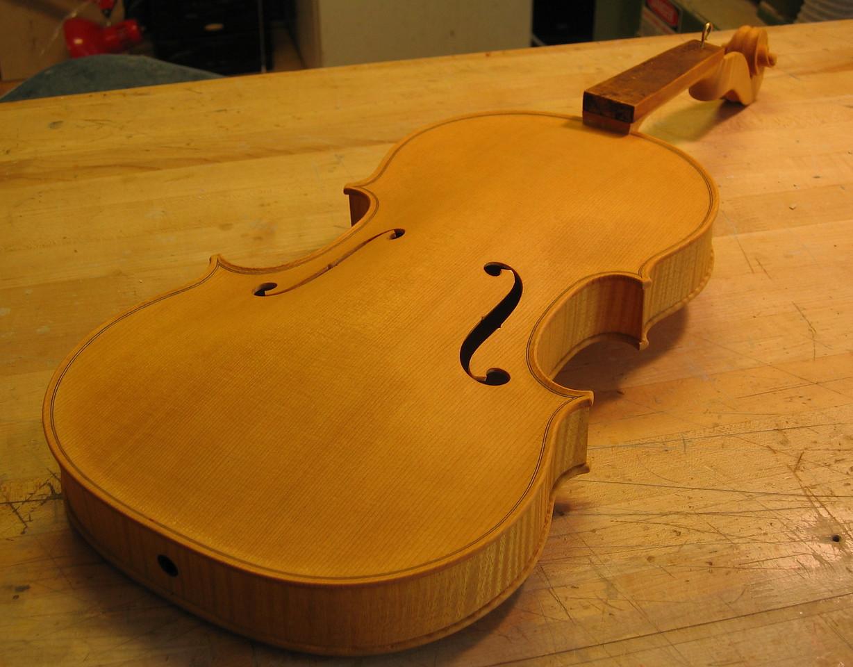 September 13 - A light stain prepares the viola for varnish.