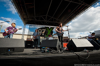 Robert McDowell, Jonathan Corley, Tim Very, Andy Hull, and Chris Freeman of Manchester Orchestra perform on December 3, 2011 during 97X Next Big Thing at 1-800-ASK-GARY Amphitheatre in Tampa, Florida