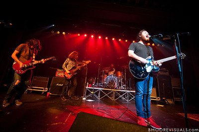 "Robert McDowell, Jonathan Corley, Tim Very, and Andy Hull of Manchester Orchestra perform in support of ""Simple Math"" on May 24, 2011 at The Ritz Ybor in Tampa, Florida"