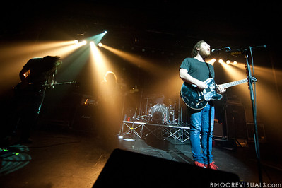 """Robert McDowell, Jonathan Corley, Tim Very, and Andy Hull of Manchester Orchestra perform in support of """"Simple Math"""" on May 24, 2011 at The Ritz Ybor in Tampa, Florida"""