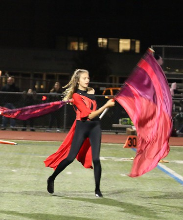 MTHS Band Sr Night Oct 27, 2017 halftime routine, Colts Neck game, photos by R. DeBoer