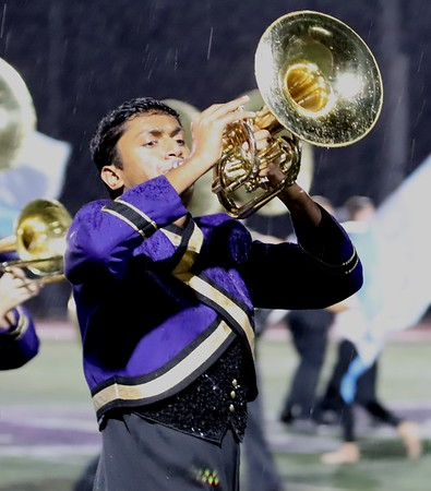 Marching Band Half time Sept 7th, 2018 in the rain!