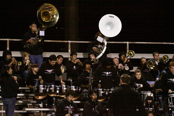 Pep band in action at Edison game, Oct. 6th, 2011