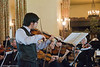 Violinist Lewis Wong performs with the Mariposa Symphony Orchestra<br /> <br /> Ahwahnee Hotel Great Lounge<br /> Yosemite National Park<br /> 26 April 2009