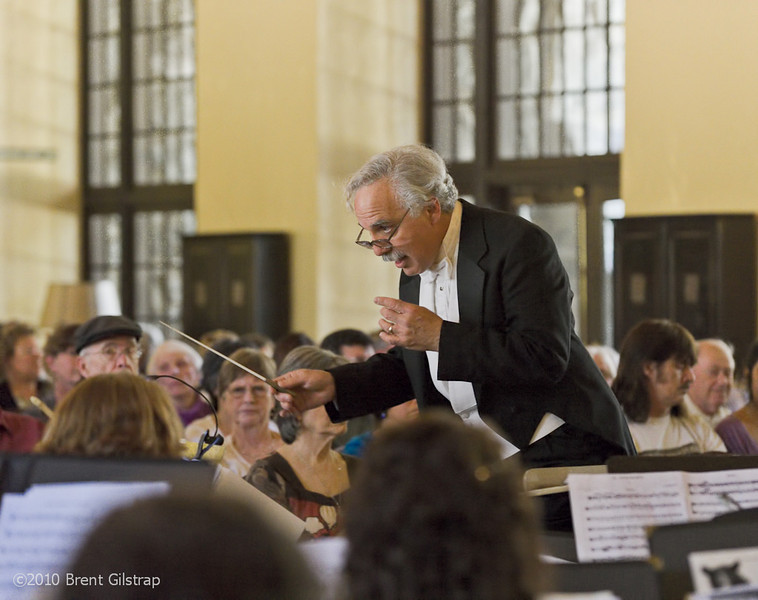 """""""Les Conducts The MSO""""<br /> Great Lounge, The Ahwahnee Hotel<br /> Yosemite National Park"""