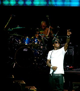 Lil Wayne at Riverbend Music Center on Sept 3, 2009.