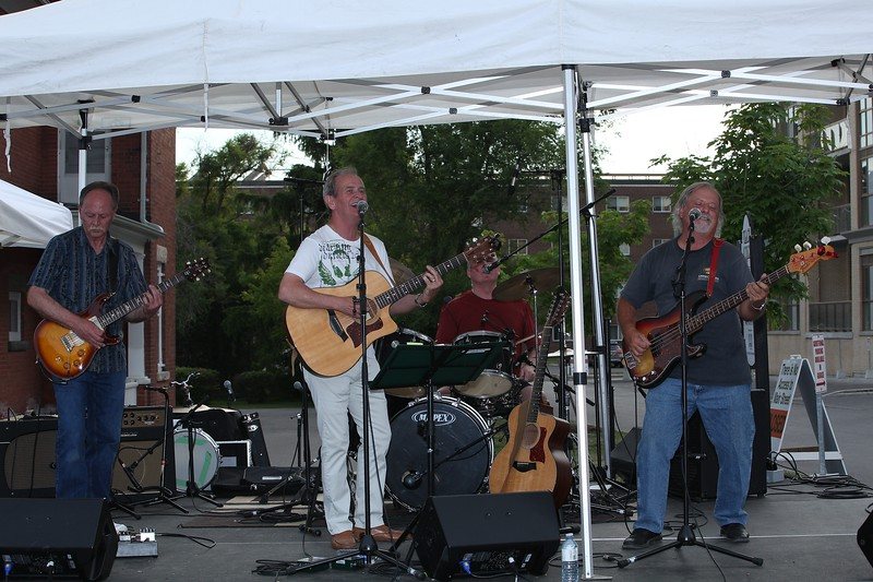 Jimmy Miller and The Buzz performing in the Markham Music Festival on Main Street.