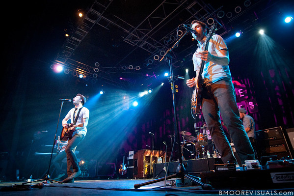 Mat Kearney and Tyler Burkum perform on March 26, 2010 at House of Blues in Orlando, Florida