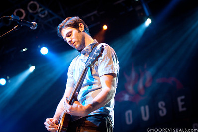Tyler Burkum performs with Mat Kearney on March 26, 2010 at House of Blues in Orlando, Florida