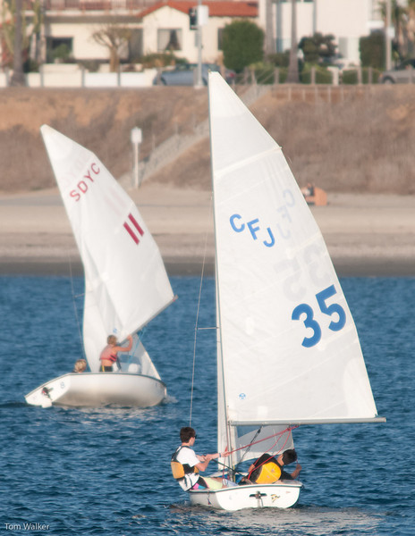 Thomas and ALex in #35 chasing the #11 boat.