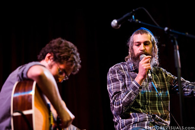 DP Holmes and Matisyahu perform on February 13, 2011 in front of a sold-out crowd during An Acoustic Evening with Matisyahu at Tampa Theatre in Tampa, Florida