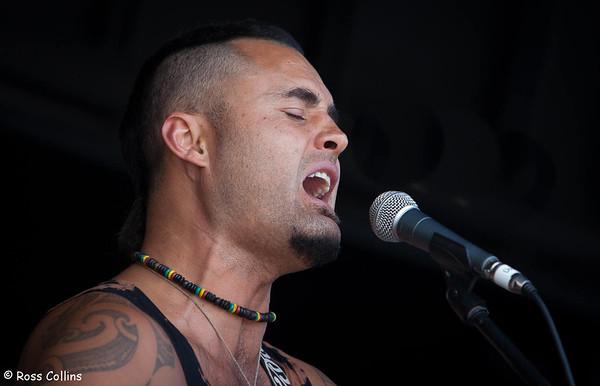 Matiu Te Huki at the Newtown Fair 2014