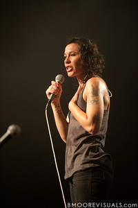 Kim Schifino takes a minute out of  Matt & Kim's sold-out show to thank their fans for their support on October 15, 2010 at State Theatre in St. Petersburg, Florida