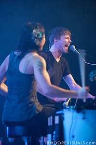 Kim Schifino and Matt Johnson perform during Matt & Kim's sold-out show on October 15, 2010 at State Theatre in St. Petersburg, Florida.