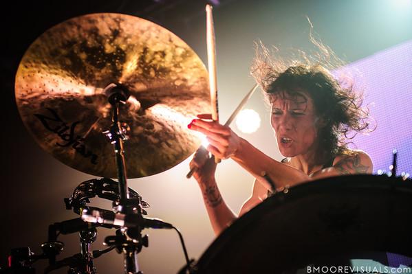 "Matt & Kim perform on October 17, 2012 in support of ""Lightning"" at The Ritz in Tampa, Florida"