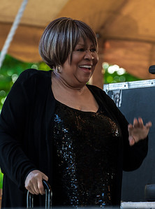 Mavis Staples backstage before her set at the Clearwater Festival.