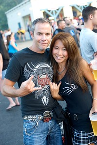 Joe and Ai Borchelt of Independance, KY at Riverbend Wednesday for Mayhem Fest 2010