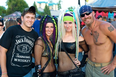 Justin Underwood, Kalin and Katrin Bates and Joe Smith of Cleveland, OH at Riverbend Wednesday for Mayhem Fest 2010