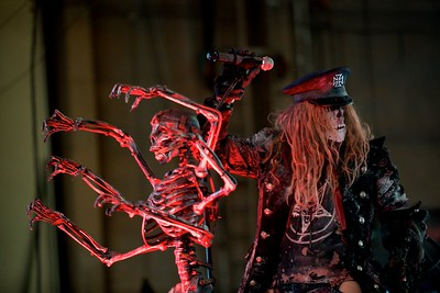 Rob Zombie performs at Riverbend Wednesday for Mayhem Fest 2010