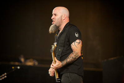 Anthrax performs at Riverbend on Tuesday for Mayhem Fest