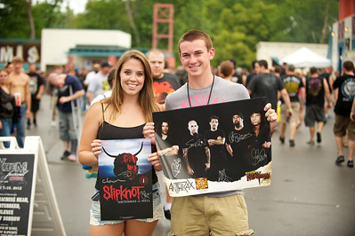 Nicole Ashurst and Trevor O'Hara from Dayton at Riverbend Tuesday for Mayhem Fest
